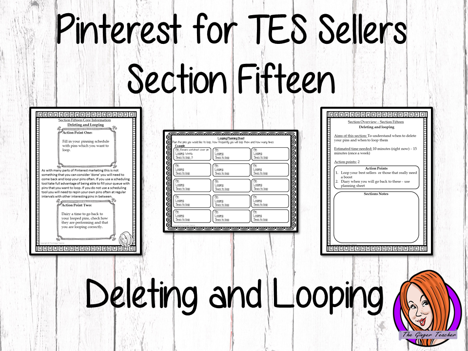 Pinterest for TES Sellers – Section Fifteen: Deleting and Looping Pins