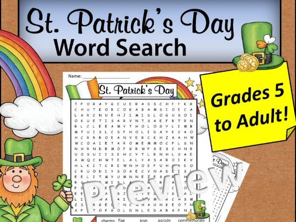 St Patrick's Day Word Search *Hard*