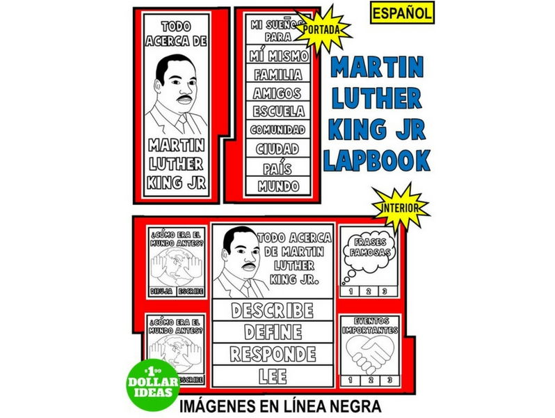 MARTIN LUTHER KING JR. LAPBOOK EN ESPAÑOL   ACTIVIDADES DE MARTIN LUTHER KING JR