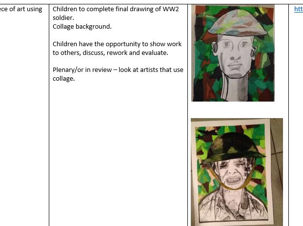 World War II - 12 weeks' art and DT planning