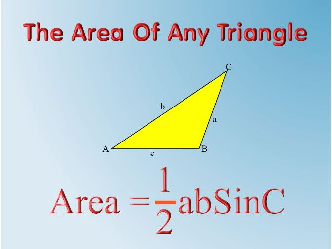 The Area Of Any Triangle with answers