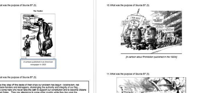Eduqas/WJEC GCSE History USA 1910-1929 - 61 practice exam questions NEW EXAM