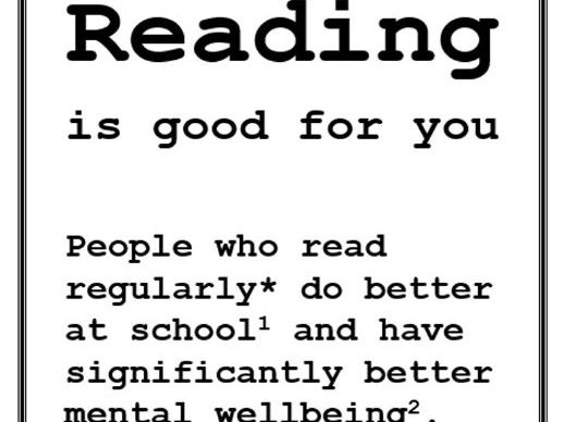 READING IS GOOD FOR YOU