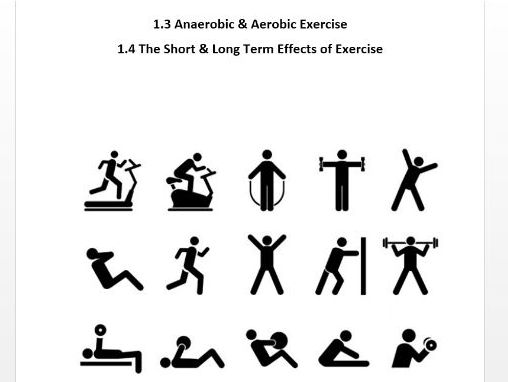 Edexcel GCSE PE 9-1. Aerobic/Anaerobic Exercise & The Effects of Exercise Workbook