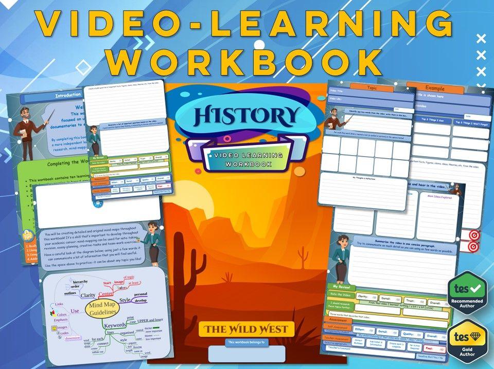 The Wild West - KS3 History - Workbook [Video-Learning Workbook] - America - Settlement - Frontier