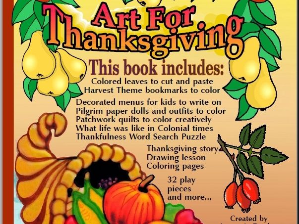 """Art for Thanksgiving"" Activity Book"
