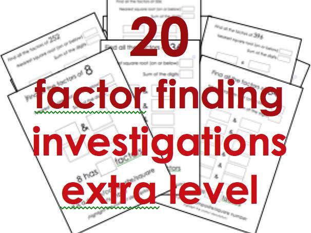 Finding factors: 20 more difficult short investigations for KS2