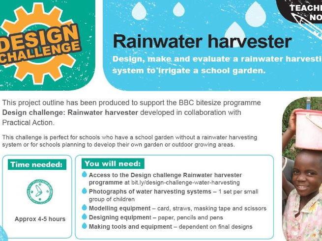 Design Challenge - Rainwater Harvester STEM challenge.