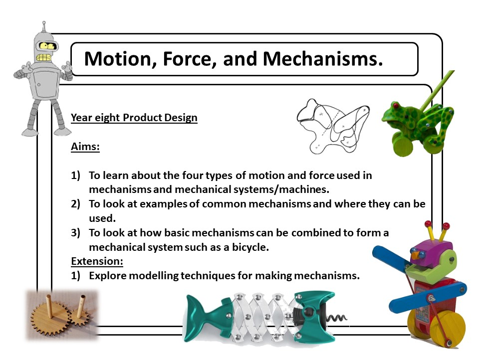 Types of Motion, Mechanisms and Force