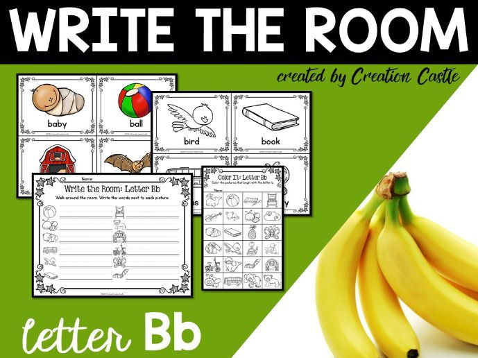 Alphabet Write the Room - Letter B