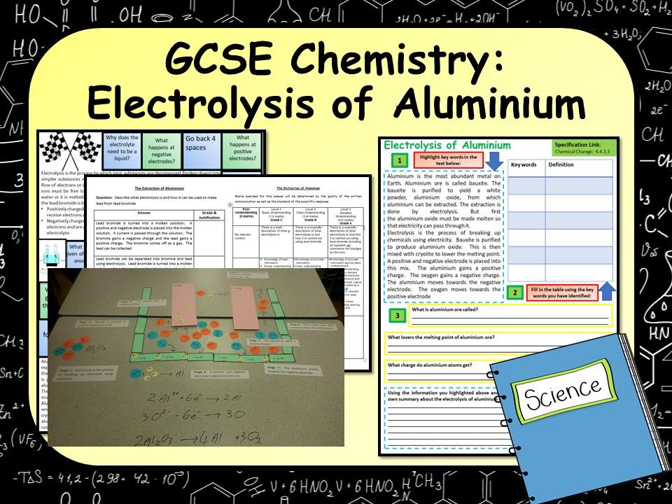 KS4 GCSE Chemistry (Science) Electrolysis of Aluminium Lesson