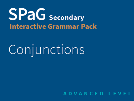 SPaG Secondary Interactive Grammar Pack - Conjunctions (Advanced Level)