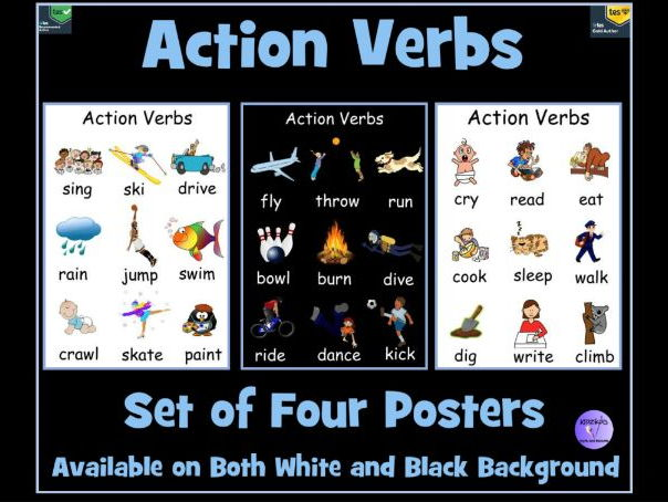 Action Verb Posters