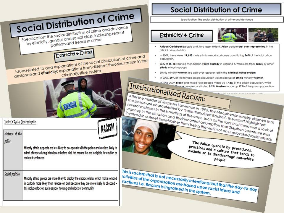 AQA Sociology - Year 2 - Crime & Deviance - Ethnicity & Crime