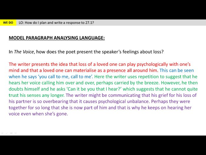 Unseen Poetry - Lesson 6 (Language)