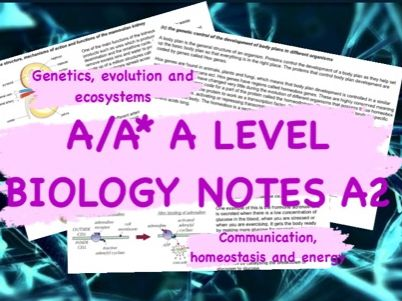 A/A* OCR A Level Biology Notes- A2