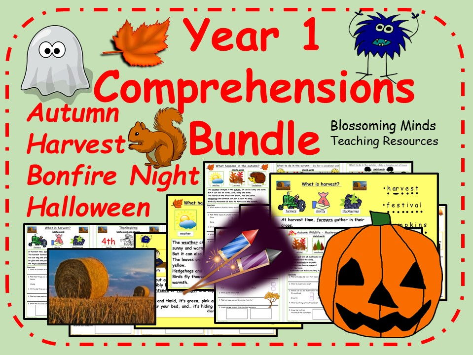 Year 1 Comprehension Pack - Autumn term