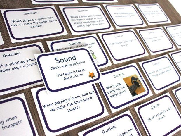 Year 4 Quiz Cards - Sound
