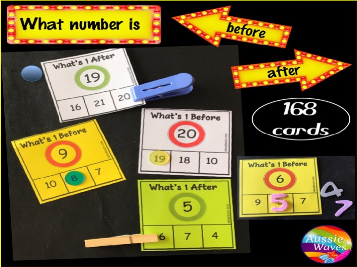 Printable Math Centre Activity Counting Numbers 0-20 What's BEFORE and AFTER