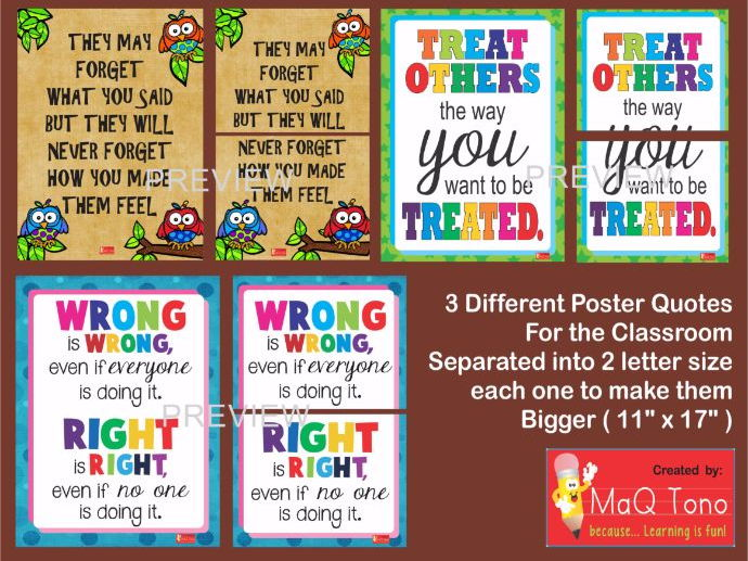 Classroom Decoration Elementary ~ Classroom decoration quotes posters by makutono teaching