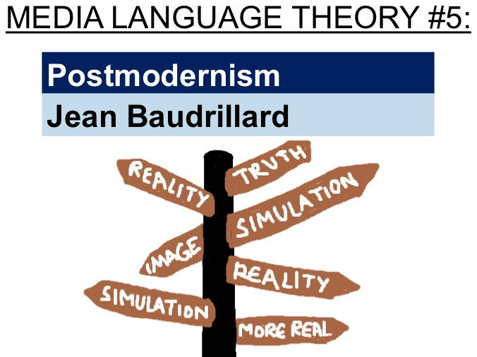 Postmodernism - Jean Baudrillard (media language theory #5)