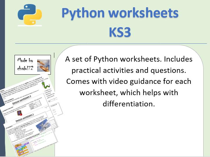 Python Worksheets KS3