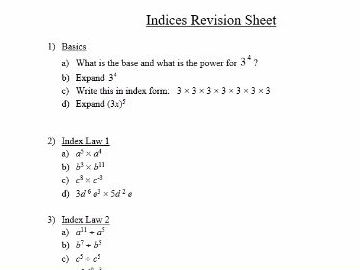 Algebra revision worksheets ks3