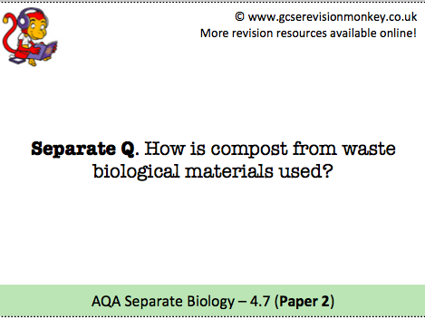 Revision Cards - AQA Separate Biology 4.7