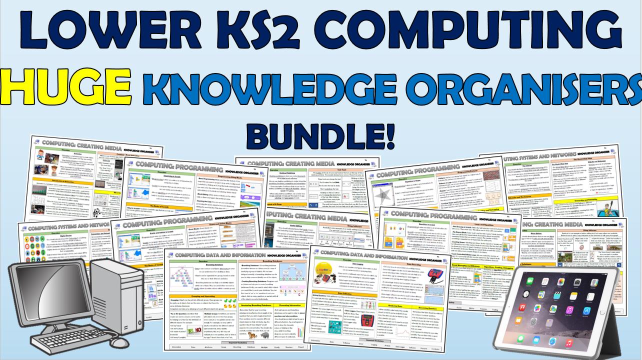 Lower KS2 Huge Computing Knowledge Organisers Bundle!