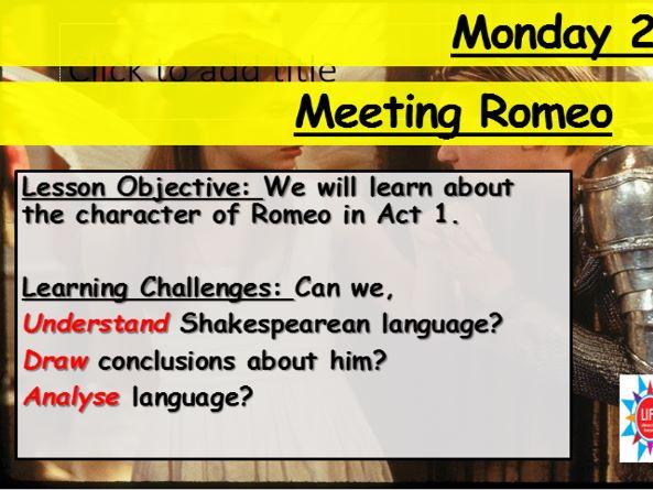 Romeo and Juliet - Meeting Romeo