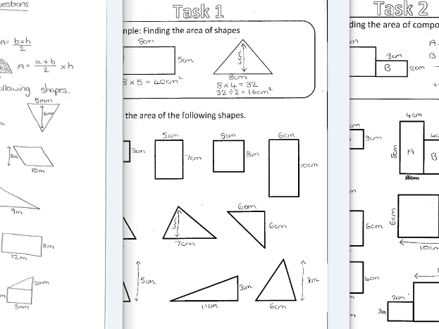 Area of Basic and Compound Shapes by rharborne Teaching – Compound Area Worksheet