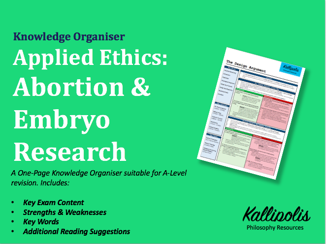 Medical Ethics - Abortion - Knowledge Organiser