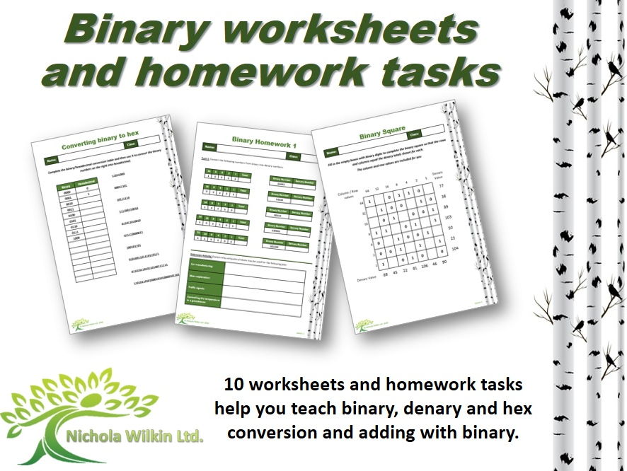 Binary worksheet pdf