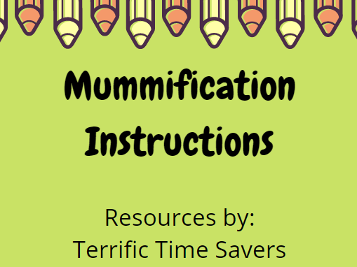 Ancient Egypt Mummification Instructions