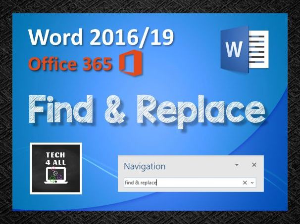 Find & Replace in Microsoft Word