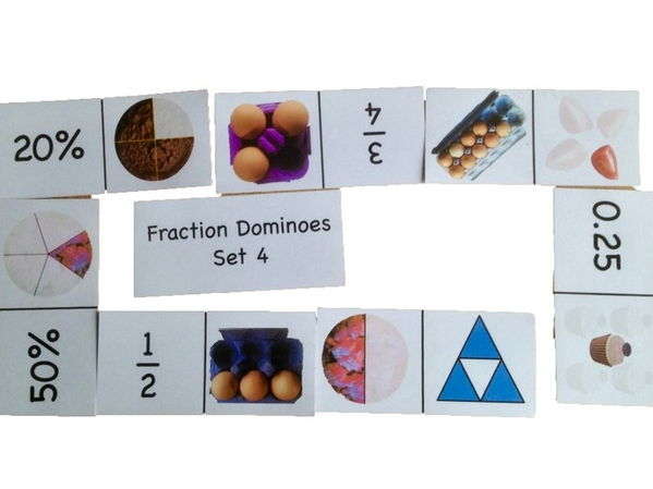 Fraction Dominoes Set 4