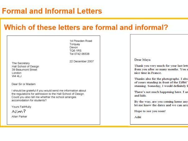 Formal Letter Writing Full Lesson