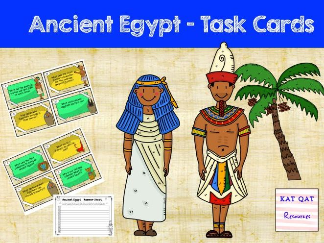Ancient Egypt - Task Cards 2