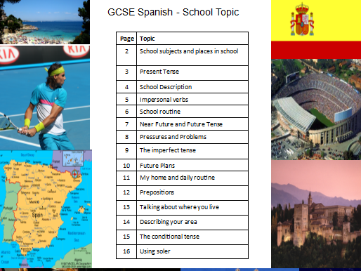 Spanish GCSE School Workbook