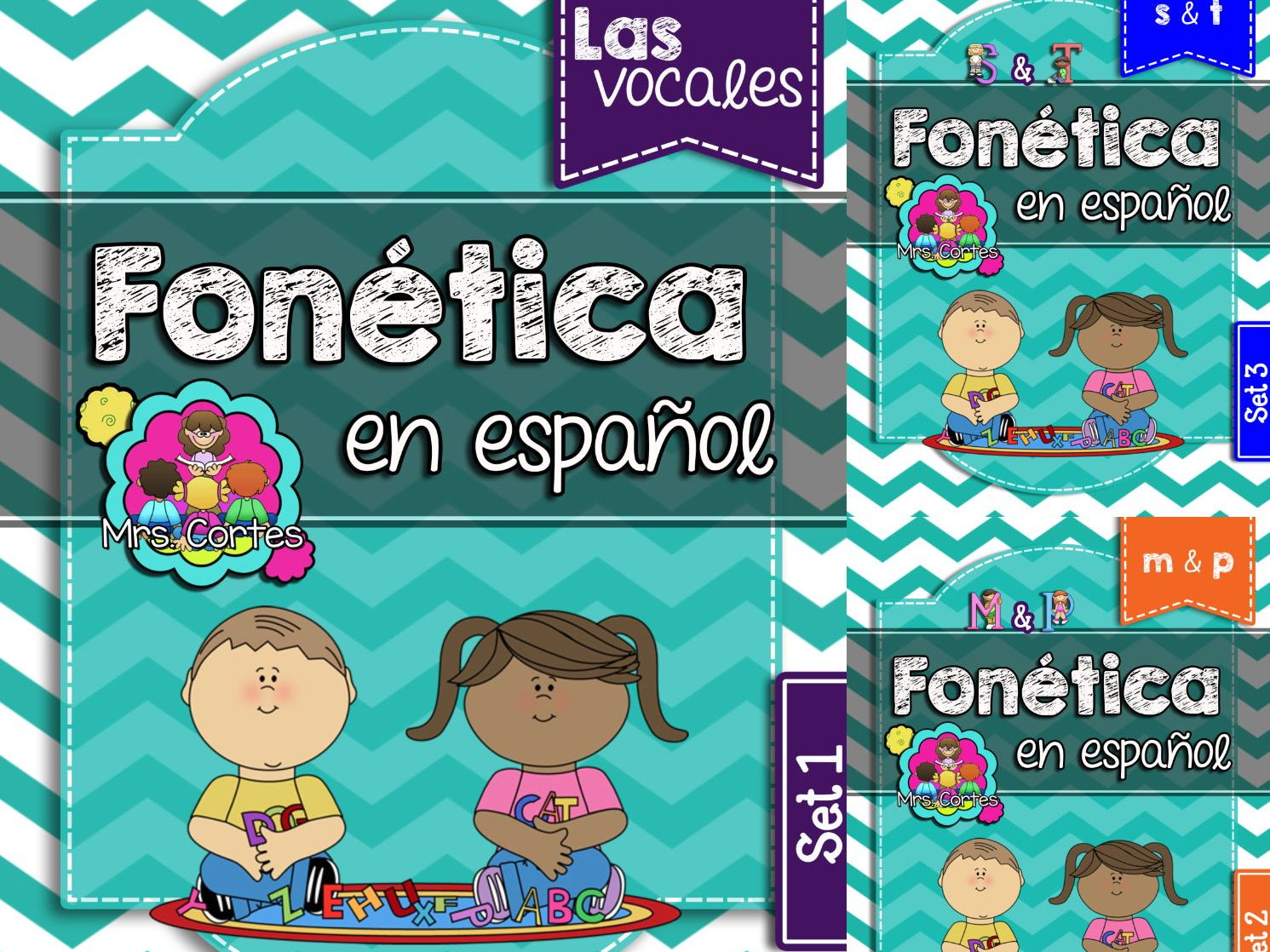 Spanish Phonics Book Bundle # 1: Sets 1, 2, and 3