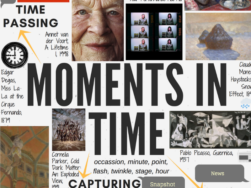 MOMENTS IN TIME - GCSE ART theme mind-map interactive with artist links