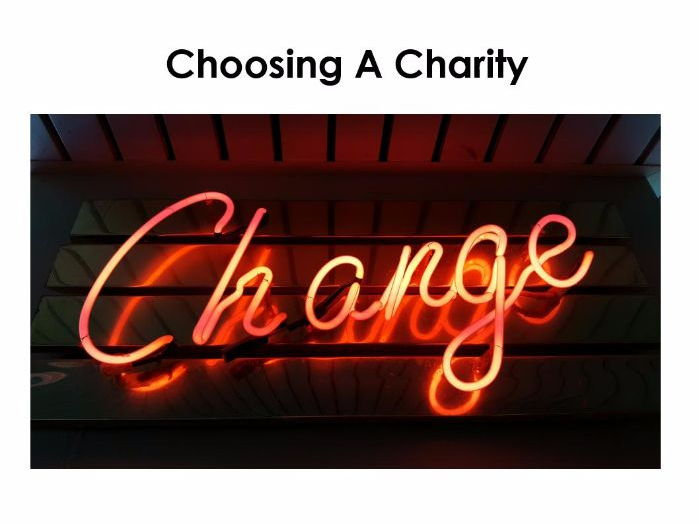 Starter For Ten Enterprise Project. Lesson Seven - Choosing a Charity