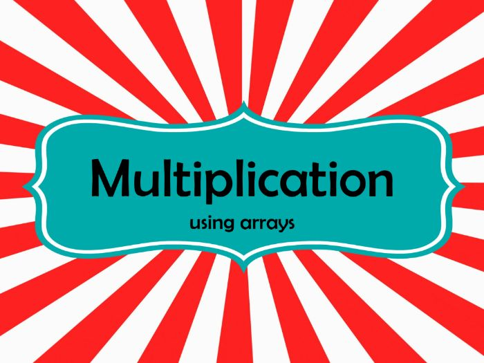 (Year 1) Multiplication using Arrays (Power point & worksheet) - Lesson 1