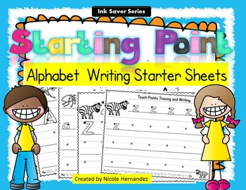 Alphabet - Letter Writing Starter Sheets (From A to Z)