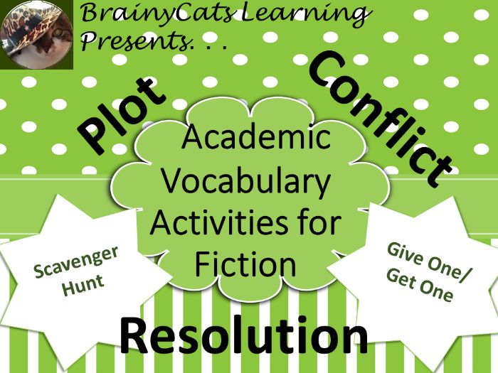Academic Fiction Vocabulary Activities