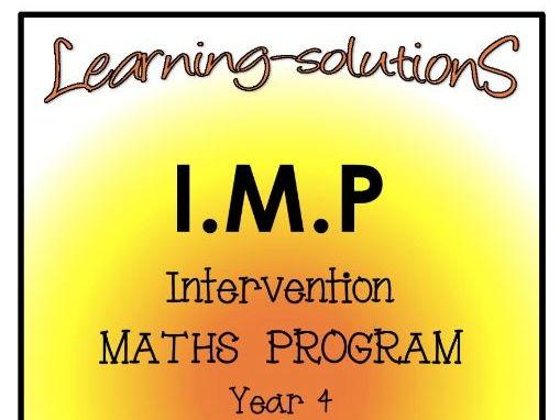 INTERVENTION MATHS PROGRAM - IMP Year 4 - Number/Place Value/Patterns/Algebra/Decimals ACARA ref.