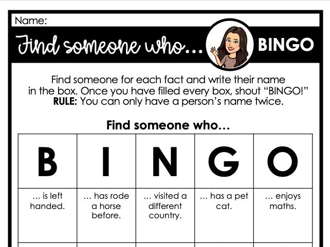 Find someone who... BINGO