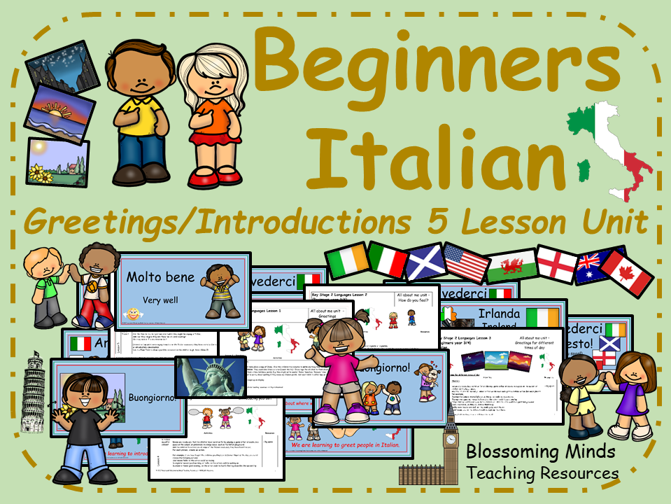 Beginners Italian - Greetings and Introductions Bundle