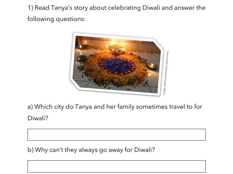 Tanya celebrates Diwali