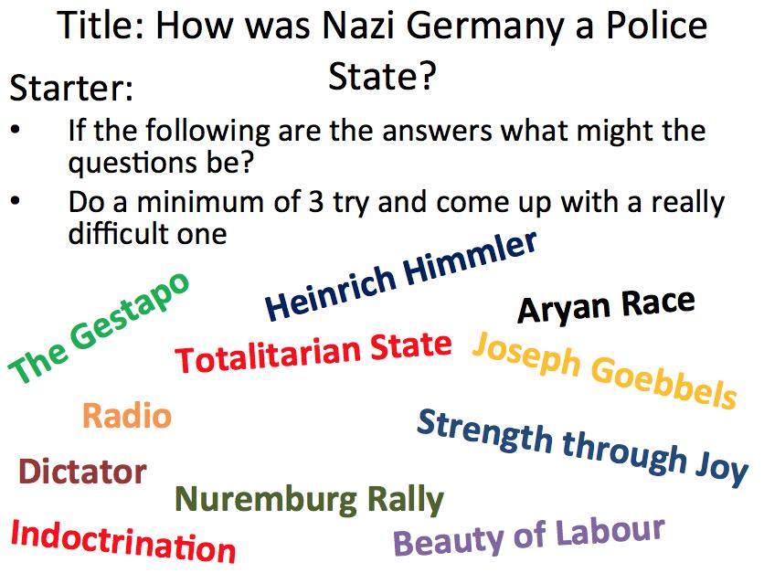 Nazi control over Germany - Lesson 4 Terror